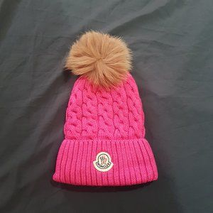 moncler womens pink beanie